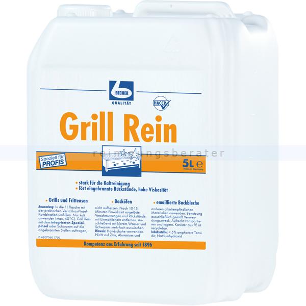 Dr. Becher 1615000 Grill Rein Backofenreiniger 5 L kraftvolle und schnelle Wirkung, löst schnell eingebranntes