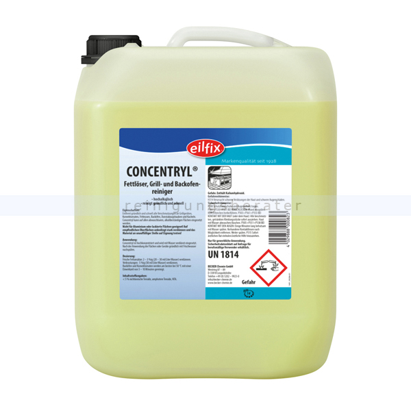 Becker Chemie Konvektomatenreiniger Concentryl 5 L hochalkalischer Fettlöser, Grill- und Backofenreiniger 100109-005-000
