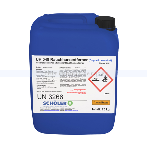 Schöler UH 048 Rauchharzentferner Rapucal 25 kg Grillreiniger UH048-30