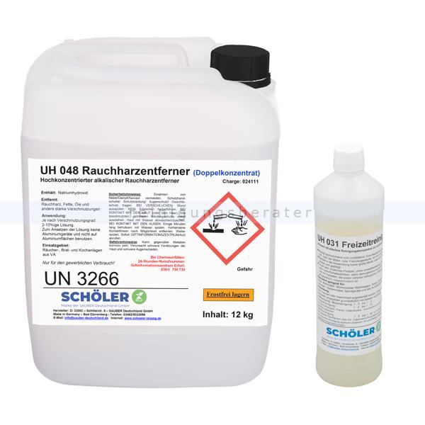 Schöler UH 048 Rauchharzentferner 12 kg im Set als Aktionsangebot mit GRATIS UH031 Freizeitreiniger 1 L siehe SL