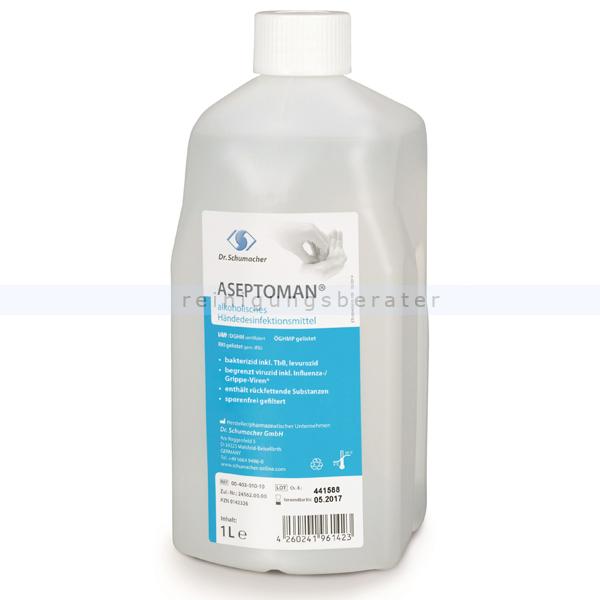 Händedesinfektion Dr. Schumacher Aseptoman® 1 L