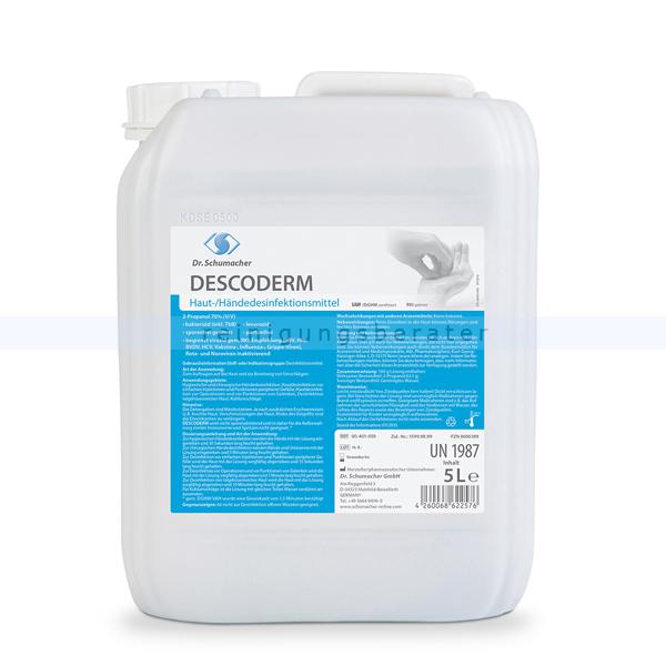 Händedesinfektion Dr. Schumacher Descoderm 5 L