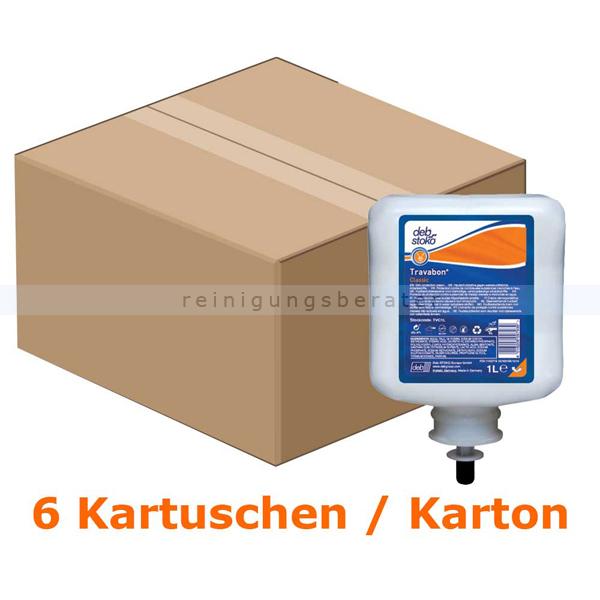 Stoko Travabon Classic 6x1 L Handcreme, fettfrei, TVC1L fettfreier Hautschutz, 6 x 1 L/ Karton