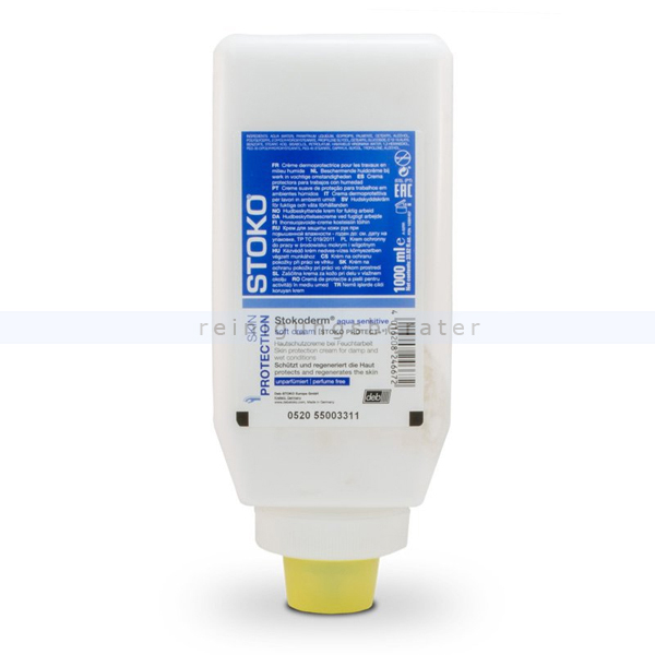 Stoko Stokoderm aqua sensitiv 1 L Handcreme, 24666 Hautschutzcreme bei Feuchtarbeit, ehem. Stoko Protect Plus