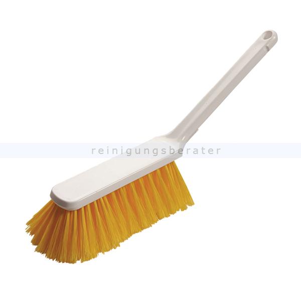 Haug Handbesen geschlitzt weich gelb, Hygienebesen, Feger PBT weich, geeignet nach HACCP & lebensmittelecht 88934