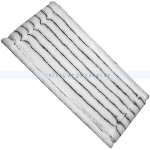 ReinigungsBerater Handpad Poly grau-weiß 25x12 cm mit Vliesrücken A04300