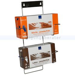 Handschuhspender Abena Flexi-Rack, Handschuhboxhalter 2 Fach