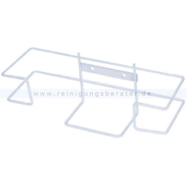 Handschuhspender Ampri für Einmalhandschuhe weiß als Drahtgestell, weiß beschichtet 09052