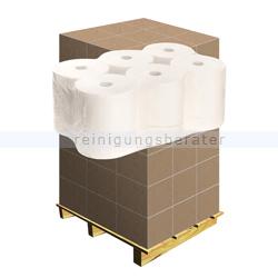 Handtuchrollen 2-lagig Zellstoff hochweiß, Palette