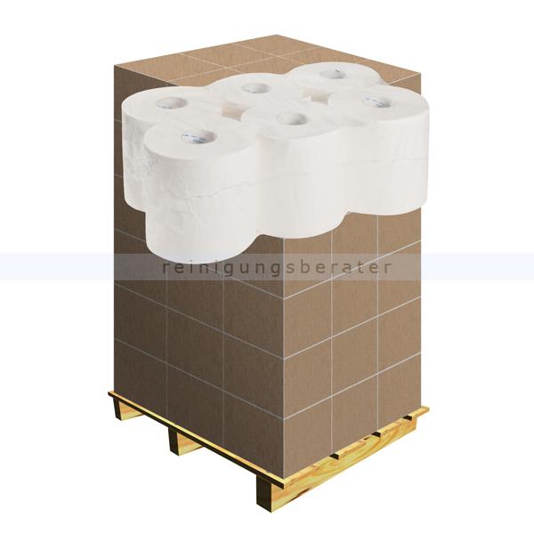Handtuchrollen 2-lagig Zellstoff hochweiß verleimt, Palette