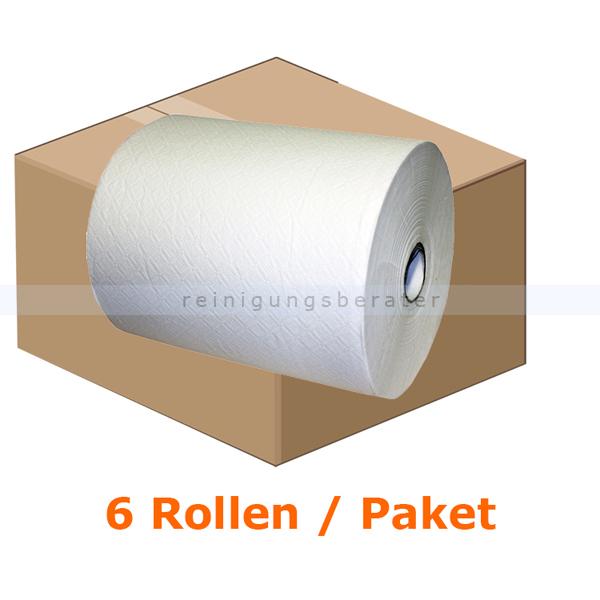 Handtuchrollen 6 Rollen weiß 21 cm x 130 m