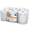 Handtuchrollen aus Zellstoff, 6 Rollen, weiß 20,8 cm x 140 m