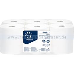 Handtuchrollen Papernet Autocut weiß 20 cm x 100 m