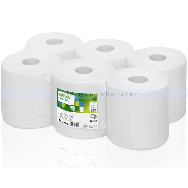 Handtuchrollen Wepa Satino Comfort hochweiß 20,5 cm x 150 m