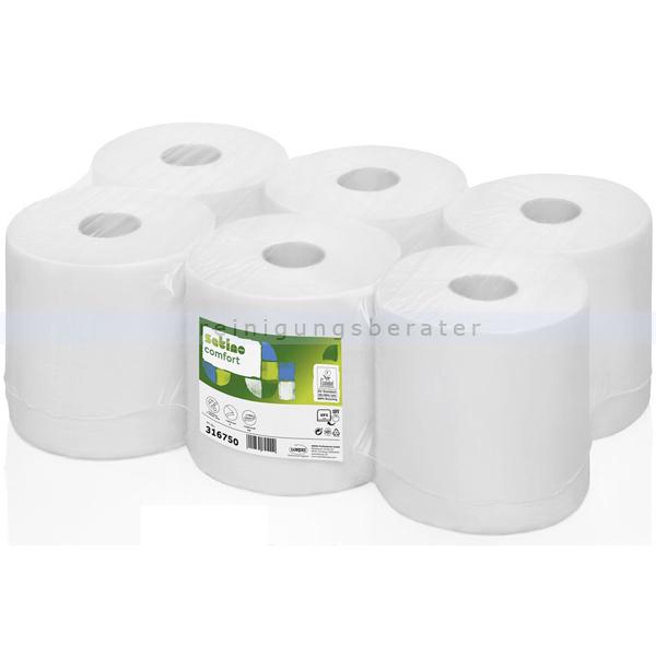 Handtuchrollen Wepa Satino Comfort weiß 20 cm x 138 m