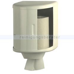 Handtuchrollenspender Innenabrollungsspender Stahlblech weiß