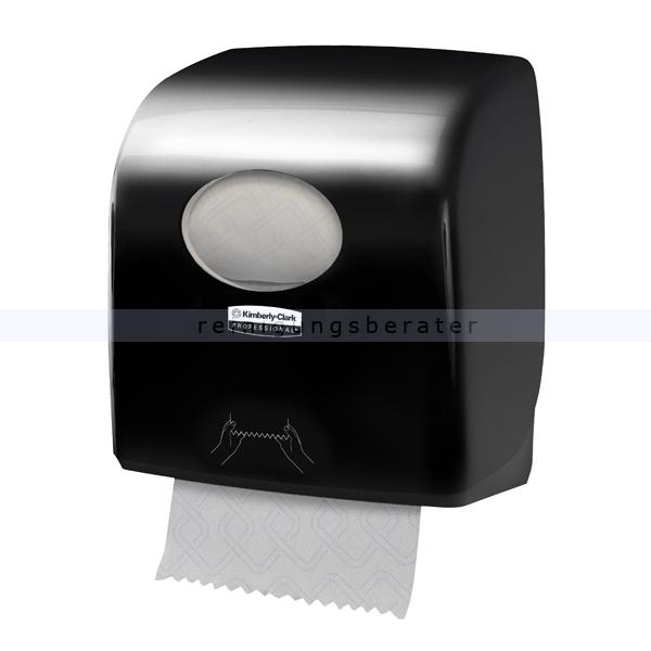 Handtuchrollenspender Kimberly Clark AQUARIUS SLIMROLL black