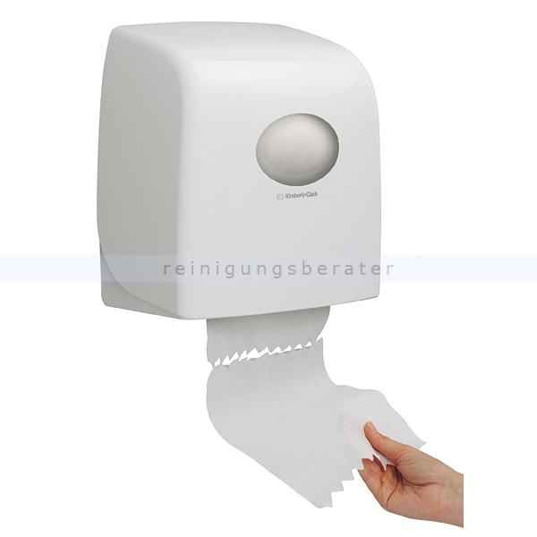 Handtuchrollenspender Kimberly Clark AQUARIUS SLIMROLL Weiß