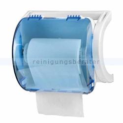 Handtuchrollenspender Orgavente ROLLOUT ABS blau-weiß