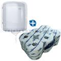 Handtuchrollenspender SCA Tork Reflex Mini, blau