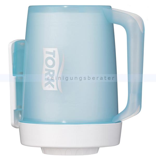 Handtuchrollenspender Tork Mini Spender tragbar, weiß/türkis
