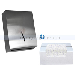 Handtuchspender Edelstahl für 600 Blatt Papier IM SET