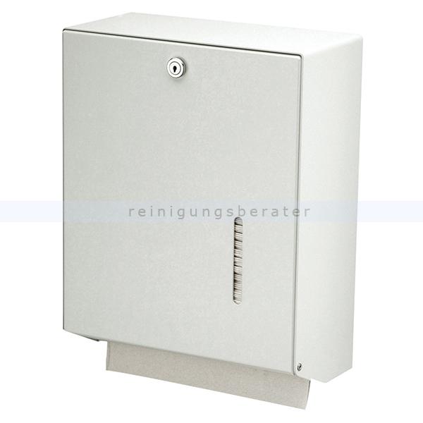 Handtuchspender groß Aluminium weiß