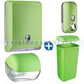 Handtuchspender im Set Color Edition 5 Komponenten grün