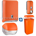 Handtuchspender im Set Color Edition 5 Komponenten orange
