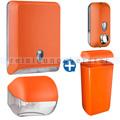 Handtuchspender im Set Color Edition 5 Komponenten orange
