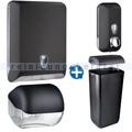 Handtuchspender im Set Color Edition 5 Komponenten schwarz