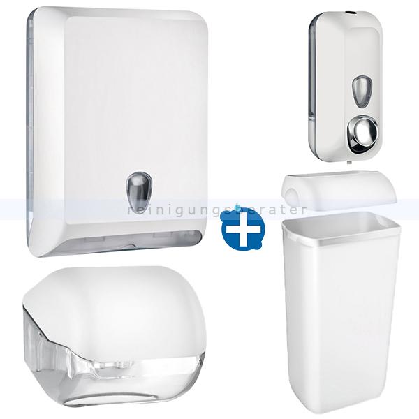 Handtuchspender im Set Color Edition 5 Komponenten weiß