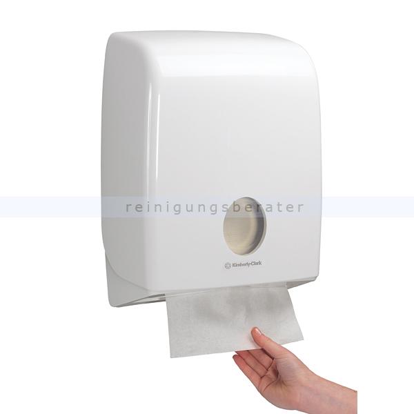 Handtuchspender Kimberly Clark AQUARIUS Standard Weiß