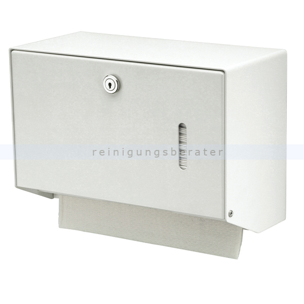 Handtuchspender klein Aluminium weiß