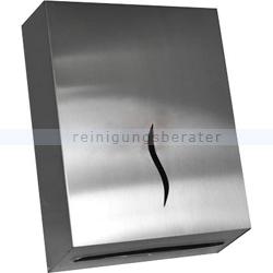 Handtuchspender Sarp aus Edelstahl für V-Falz 600 Blatt