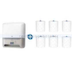 Handtuchspender Set Tork H1, Tork Matic Spender, weiß