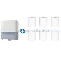 Handtuchspender Set Tork H1, weißer Spender