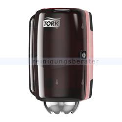 Handtuchspender Tork M1 Innenabrollungsspender schwarz/rot