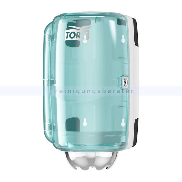 Handtuchspender Tork M1 Innenabrollungsspender weiß/türkis