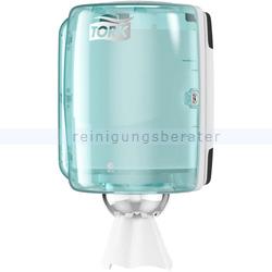 Handtuchspender Tork M2 Innenabrollungsspender weiß/türkis