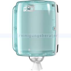 Handtuchspender Tork Maxi Innenabrollungsspender weiß/türkis