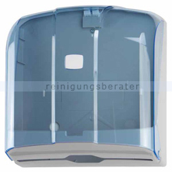Handtuchspender WAVE ABS/SAN grau-blau transparent