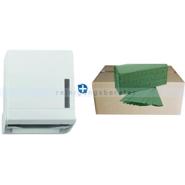 Handtuchspender weiß, für 600 Blatt Papier IM SET