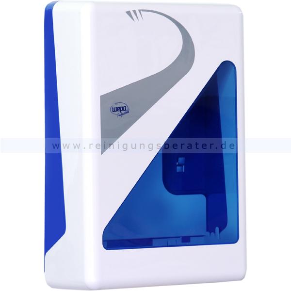 Handtuchspender Wepa Prestige groß weiß/blau
