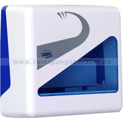 Handtuchspender Wepa Prestige klein weiß/blau