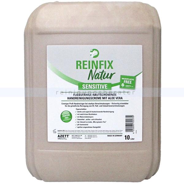 Azett Reinfix Natur sensitiv Naturreibekörper 10 L Handwaschpaste ohne Parfum, frei von Mikroplastik, gut biologisch abbaubar 1344-060-000
