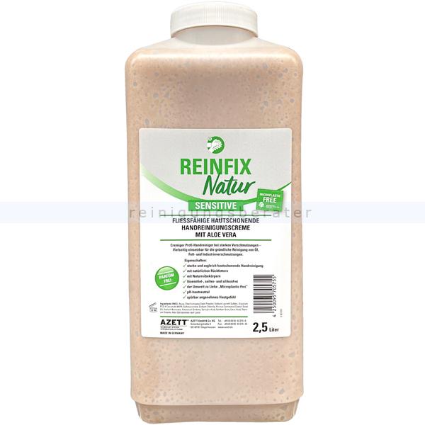 Azett Reinfix Natur sensitive Olivenkernmehl 2,5 L Handwaschpaste ohne Parfum, frei von Mikroplastik, gut biologisch abbaubar 1325-049-000