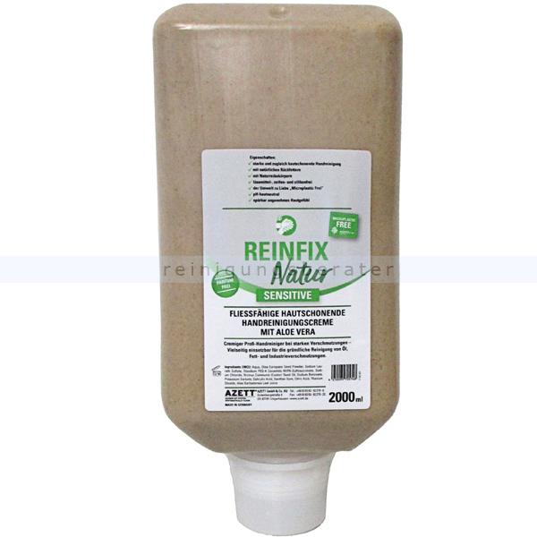 Azett Reinfix Natur sensitive Olivenkernmehl 2 L Handwaschpaste ohne Parfum, frei von Mikroplastik, gut biologisch abbaubar 1325-089-000