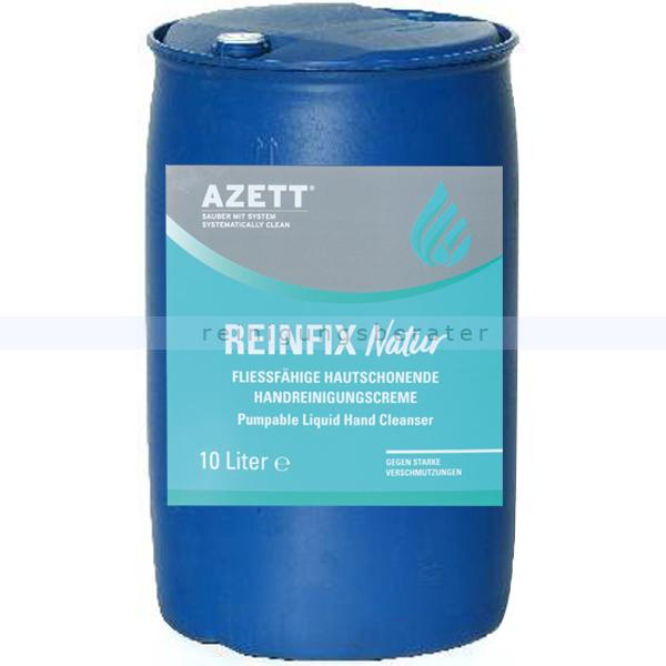 Azett Handwaschpaste Reinfix Natur WSM Bioreibekörper 200 L Fass pH-hautneutral, starke Reinigungskraft, Mikroplastik-frei 1343-470-000