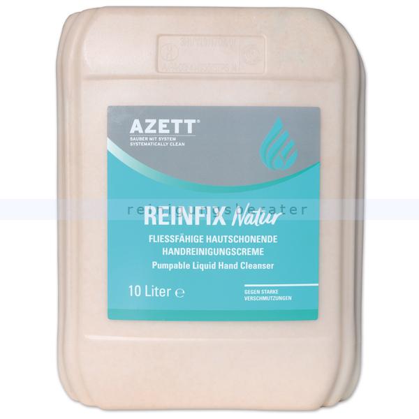 Azett Handwaschpaste Reinfix Natur WSM Bioreibekörper flüssig 10 L pH-hautneutral, starke Reinigungskraft, Mikroplastik-frei 1343-060-000